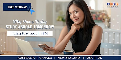 Stay Home Today Study Abroad Tomorrow FREE Webinar tickets