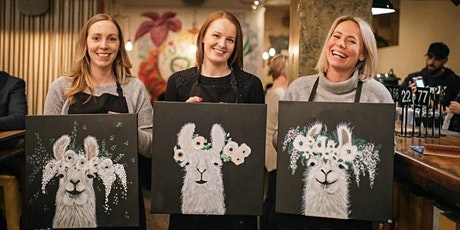 Flower Power Llama - Online Paint & Sip tickets