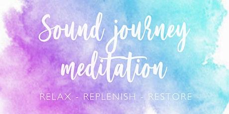 Online Sound journey meditation - relax, replenish, restore tickets