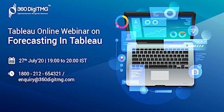 Tableau Online Webinar on Forecasting In Tableau biglietti