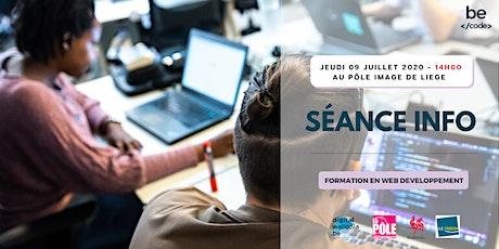 BeCode - Séance info - 09 juillet 2020 @ Pôle Image de Liège billets