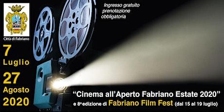 Rassegna Cinema all'aperto Fabriano Estate 2020 biglietti