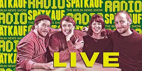 Radio Spaetkauf Podcast Recording July Tickets