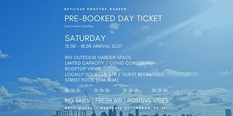 Saturday [15:00 - 18:00 Arrival Slot] tickets