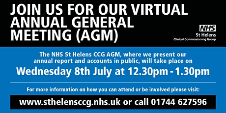 NHS St Helens Clinical Commissioning Group CCG Annual General Meeting tickets
