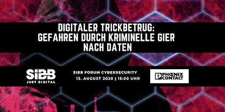 Digitaler Trickbetrug - Gefahren durch kriminelle Gier nach Daten Tickets