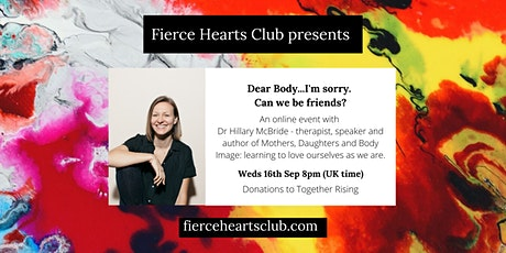 Dr Hillary McBride: Dear Body, I'm sorry...Can we be friends? tickets