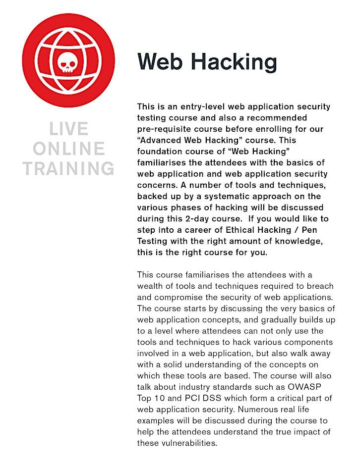 Web Hacking - Live Online Training image