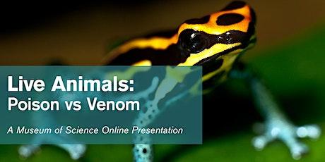 Live Animals: Poison vs Venom - #Livestream tickets