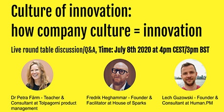 Culture of innovation: how company culture = innovation tickets
