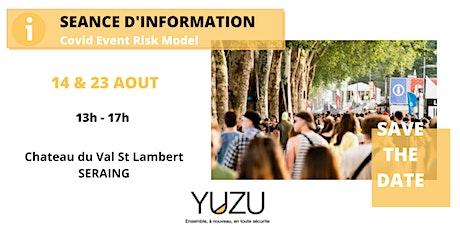 Covid Event Risk Model - Séance d'information billets