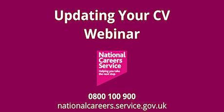 WEBINAR: Updating Your CV tickets