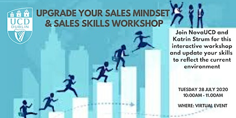 Update your Sales Mindset and Sales Skills Workshop tickets