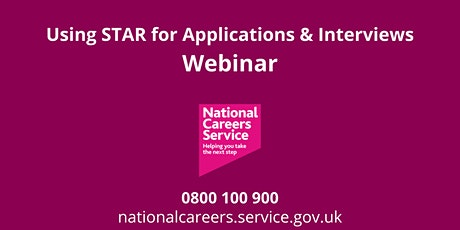 WEBINAR: Using STAR for Applications & Interviews tickets