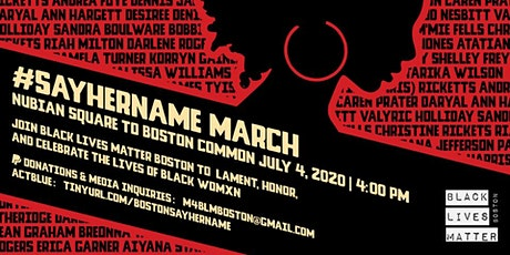 Say Her Name March & Rally: Boston tickets
