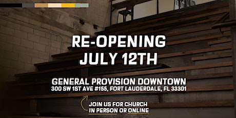City Lift Church Re-Opening  Service tickets