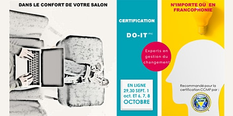Certification DO-IT experts en gestion du changement  - Sept 2020 billets