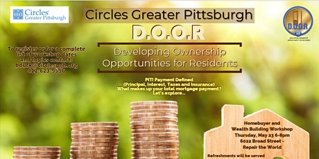 "D.O.O.R Homeownership Workshop: ""PITI Payment Defined"" tickets"