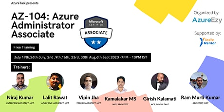 [Webinar]Azure Administrator Associate (AZ-104) Free Training tickets