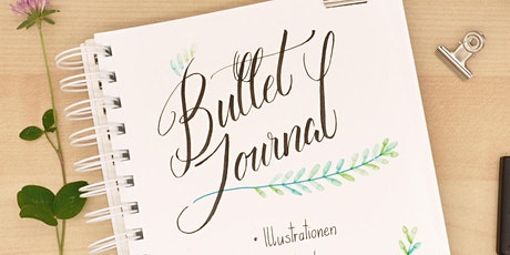 Bullet Journal - Schmuck-Elemente und Lettering - Wien - August Tickets