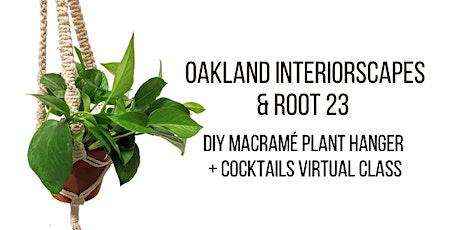 DIY Macramé Plant Hanger + Cocktails : Virtual Class tickets