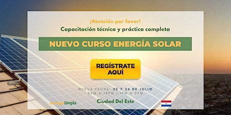 Nuevo Curso Energía Solar | Técnico y Práctico Completo  (25 y 26/JUL) ingressos