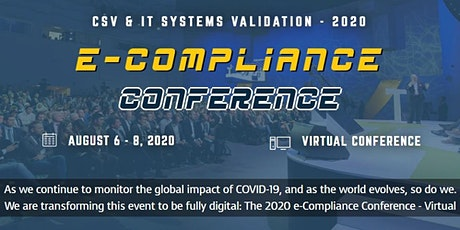 e-Compliance Conference 2020 - CVS & IT Systems Validation tickets