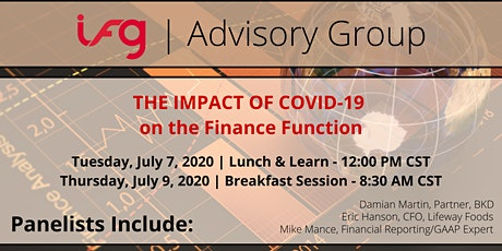 Impact of COVID-19 on the Finance Function | Breakfast Session tickets