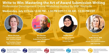Write to Win: Mastering the Art of Awards Submission Writing tickets