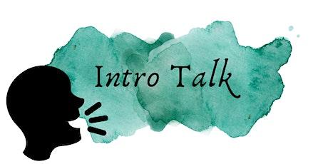 Intro Talk tickets
