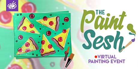 "Virtual Painting Event  - ""Pizza Party"" (Online Painting Class) tickets"