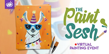 "Virtual Painting Event  - ""Party Llama"" (Online Painting Class) tickets"
