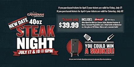 40oz Steak Night (Calgary Mahogany) tickets