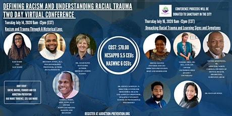 Defining Racism and Understanding Racial Trauma Two Day Virtual Conference tickets