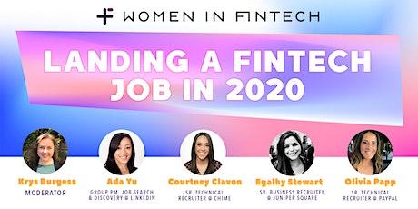Landing a FinTech Job in 2020 tickets