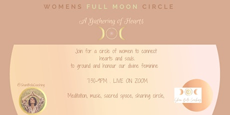 Full Moon Women's Circle- A Gathering of Hearts tickets