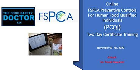 Online FSPCA (PCQI) Certificate Training