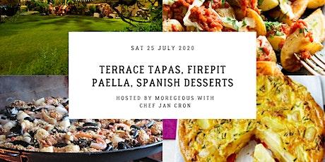 Moregeous Supper Club: Terrace Tapas, Firepit Paella, Spanish Desserts. tickets
