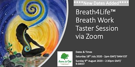 Breath4Life™ Breath Work Taster Session via Zoom (EST TIMES) Tickets
