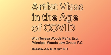 Artist Visas in the Age of COVID tickets