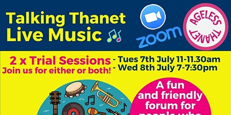 """Ageless Thanet - """"Talking Thanet Live Music"""" Forum #1 tickets"""