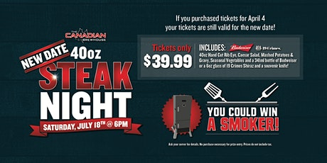 40oz Steak Night (Okotoks) tickets