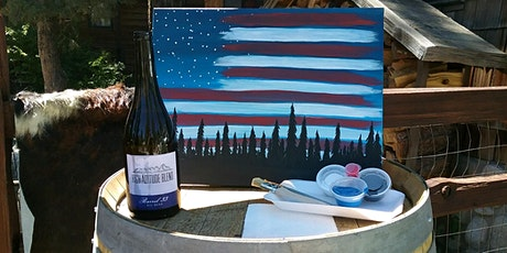 Stars, Stripes and Pines Virtual Paint n Sip tickets