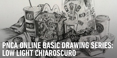 CE Online Workshops Basic Drawing Series:  Low Light Chiarascuro tickets