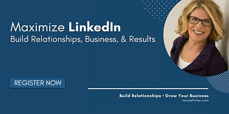 Maximize LinkedIn - LIVE 2 Part Webinar Series tickets