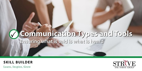 Skill Builder: Communication Types and Tools tickets