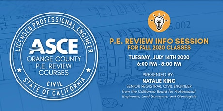 ASCE OC YMF - PE Exam Info Session tickets