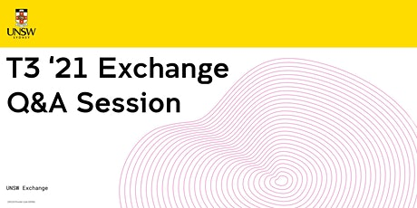 UNSW Exchange Europe Q&A Session 17 July 2020 11am tickets