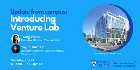 Update from Wharton Campus: Introducing Venture Lab! tickets