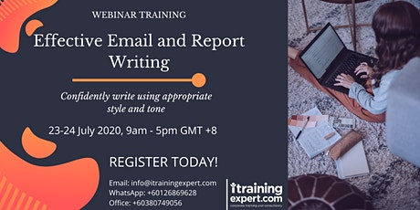 Email and Report Writing Skills tickets
